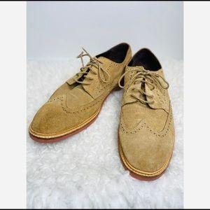 Cole Haan Men's Nubuck Suede Wingtips Oxford Shoes